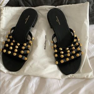 Authentic Balenciaga gold stud Sandals 36.5 36 1/2